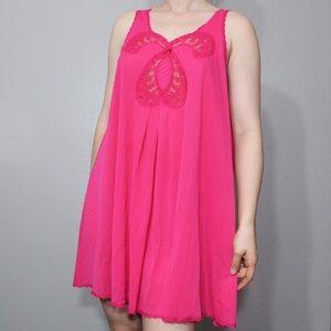 Vintage #1960s vanity fair hot pink sleepwear set
